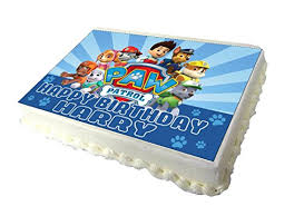 Paw Patrol Edible A4 Birthday Cake Topper Amazon Grocery