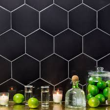 Hexagon Tile Kitchen Backsplash Tile Perfect For Interior And Exterior Projects With Hexagon