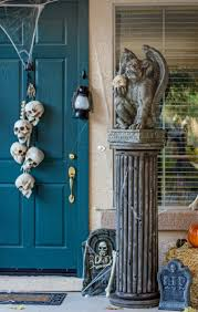 spooky decorations and bone decorations