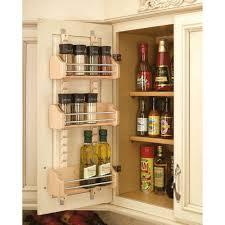Wood Wall Mount Spice Rack Spice Racks U0026 Jars Kitchen Storage U0026 Organization The Home Depot