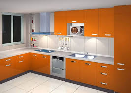 Orange Paint Colors For Kitchen Cabinets With White Wall Colors - Orange kitchen cabinets