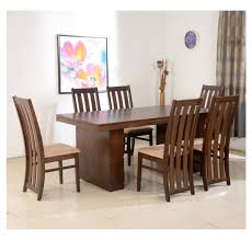 nilkamal kitchen furniture buy nilkamal newark 6 seater dining set walnut at home