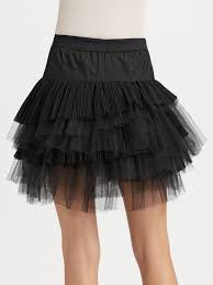 party city halloween tutus bcbgmaxazria tiered tulle skirt in black lyst