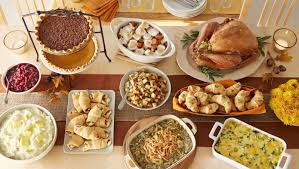 country dinner table with food 26 thanksgiving menu ideas
