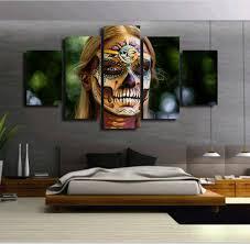 dia de los muertos home decor 5piece canvas prints poster painting home decor dia de los muertos