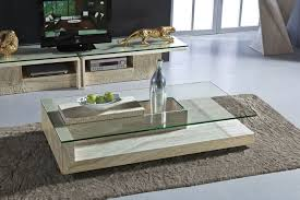 stone and glass coffee table modern travertine stone coffee table rectangle glass center table