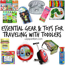 Essential gear toys for travel with toddlers