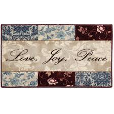 sentiments washable kitchen rug jcpenney