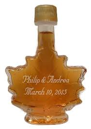maple syrup wedding favors engraved favors carman brook farm