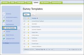 library survey templates subtab