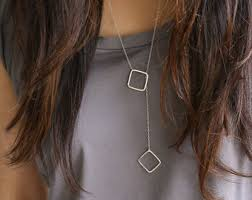 long necklace chain silver images Long silver necklace etsy jpg