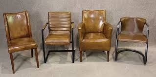 Dining Leather Chair Lovely Rustic Leather Dining Chairs I Think Pertaining To Idea 8