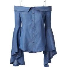 denim blouses g v g v denim shoulders blouse 281 liked on polyvore