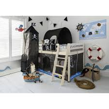 cabin bed midsleeper kids pirate hideaway with tent tunnel tower