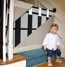 Child Safety Gates For Stairs With Banisters Custom Wall To Banister Fabric Safety Gate 9 Fabric Options