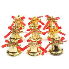 9pcs christmas xmas tree bowknot bells hanging pendant party
