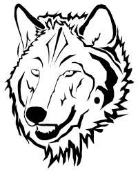 big bad wolf coloring page wolf face outline coloring home