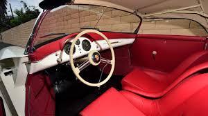 porsche speedster interior 1955 porsche 356 speedster s94 monterey 2015