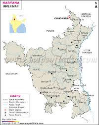 Blank Map Of Northeast States by Haryana River Map Rivers In Haryana