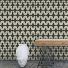 Removable Wallpaper Tiles by Tempaper Genevieve Gorder Urban Caterpillar Angel White Self