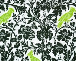 Bird Print Curtain Fabric Barbary Coast Damask Bird Parrot Print Cotton Fabric Upholstery
