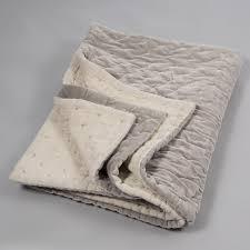 velvet linen bedspread oyster color niki jones