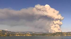 Wildfire Clearlake Ca by Clear Lake Fire Time Lapse Youtube