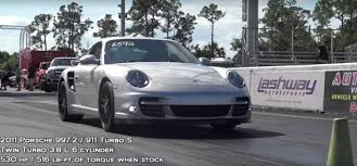 porsche 911 back porsche 911 turbo s sends tesla p100d back to drag racing