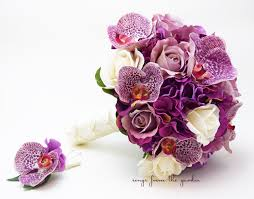 silk wedding flower packages orchids roses hydrangea wedding flower package bridal bouquet real