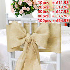 wedding bows for chairs wedding chair sashes ebay