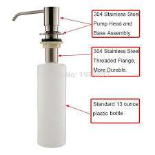 Kitchen Countertop Soap Dispenser by Deck Mount Brushed Nickel Stainless Steel Pump Foam Liquid Lotion