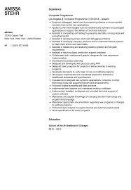 Resume Sample For Computer Programmer Computer Programmer Resume Sample Velvet Jobs