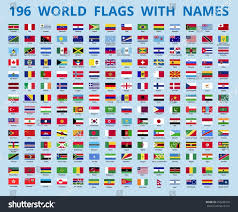 Flag Of The World Royalty Free Flags Of The World With The Name Of The U2026 456208732