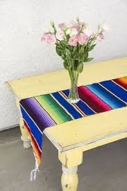 Mexican Table Runner Amazon Com Del Mex Tm Mexican Serape Blanket Table Runner Blue