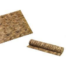 tappeti doccia tappeto per doccia in legno teak naturale 50x50xh1 8cm ad alta