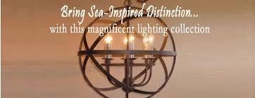 Beachy Chandeliers Coastal Chandeliers Iron Rope Driftwood Sea Glass Nautical