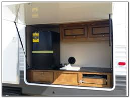 travel trailer with outdoor kitchen and bunks kitchen set home