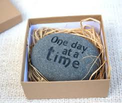 one day at a time engraved inspirational stone home decor and