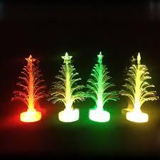 fiber optic color changing tree lights