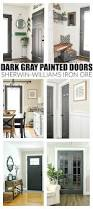 How To Choose An Accent Wall by The Power Of Paint Dark Painted Interior French Doors Painting