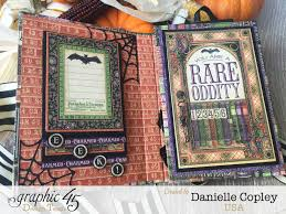 halloween brag book and tutorial using graphic 45 rare oddities