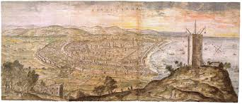Map Of Barcelona View Of Barcelona 1563 Theme Unit Mapwork Pinterest
