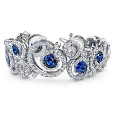diamond bracelet with sapphire images Omi priv award winning sapphire and diamond bracelet platinum jpg