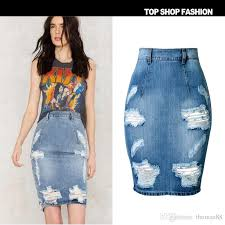 denim skirt 2018 wholesale denim skirt women summer casual split skirts