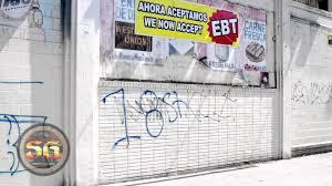 Gang Map Los Angeles by Mara Salvatrucha And 18th Street Gang Graffiti In Los Angeles