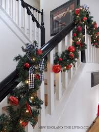 Banister Decorations For Christmas Christmas In The Country New England Style Country Christmas New