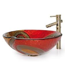 Copper Bar Sinks And Faucets Bathroom Glass Vessel Sink And Faucet Combination Kraususa Com