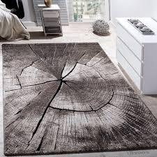 teppich für wohnzimmer teppich wohnzimmer holzstamm optik natur grau braun design teppiche