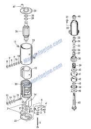 evinrude starter motor parts for 1962 75hp 50931 outboard motor