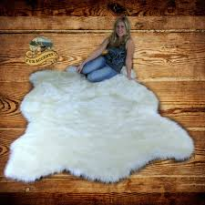 alaskan polar bear faux fur area rug white shaggy rug for sale